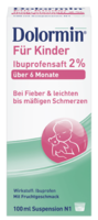 DOLORMIN für Kinder 2% Ibuprofen Suspension
