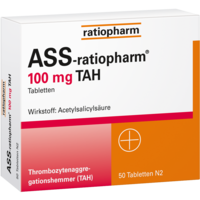 ASS-ratiopharm 100 mg TAH Tabletten